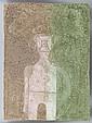 RUFINO TAMAYO, Figura sobre fondo rosa y verde, 1977, Firmada. Mixografía 88 / 100, 45 x 34 cm