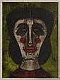 RUFINO TAMAYO, Cabeza de mujer, 1973, Firmada. Litografía 10 / 75, 76 x 56 cm