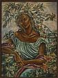 FEDERICO CANTÚ, Flora, Firmado y fechado 51. Óleo sobre tela, 101 x 74.5 cm
