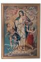 Anónimo. Origen mexicano, Siglo XIX. La Madre Santísima de la Luz. Óleo sobre tela adherida a madera. Titulada en filacteria.