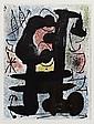 JOAN MIRÓ, Para la publicación Derier le miroir 164-165 pág. 10, Sin firma. Litografía, 38 x 28 cm