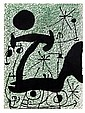 JOAN MIRÓ, Para la publicación Derier le miroir 164-165 pág. 15, Sin firma. Litografía, 38 x 28 cm