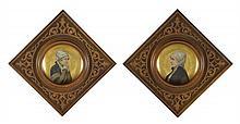 TWO GERMAN PORCELAIN CABINET PLATES