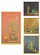 HOVSEP PUSHMAN, (American, 1877-1966), Offset lithographs (four works), H 25½ x W 16½ inches.