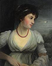 S. JAMES, (19th century), Female Portrait, circa 1870, Oil on canvas, H 20 x W 16 inches.