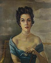 ANONYMOUS , (Early 20th century), Portrait of a Lady, Oil on canvas, H 29¼ x W 24 inches.