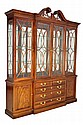 A THOMASVILLE DUNCAN PHYFE STYLE MAHOGANY BREAKFRONT AND CHINA CABINET Late 20th Century Very good condition.