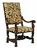 A FRENCH RENAISSANCE REVIVAL HALL CHAIR