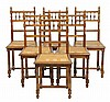 A SET OF SIX RENAISSANCE REVIVAL WALNUT SIDE CHAIRS