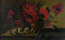 ANONYMOUS , (19th century), Still Life, Oil on board, H 16 x W 24 inches.