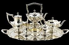 A GORHAM STERLING SILVER TEA AND COFFEE SERVICE