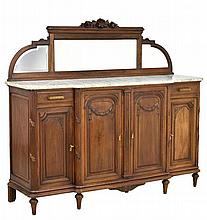 A FRENCH LOUIS XVI STYLE SIDEBOARD WITH MIRROR