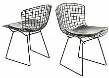 A SET OF TWELVE HARRY BERTOIA FOR KNOLL STYLE CHAIRS