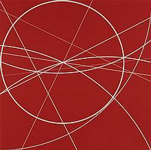 CLIFFORD SINGER, (American, born 1955), Red, 1980, Silkscreen, ed. 14/30, H 34 x W 34 inches.