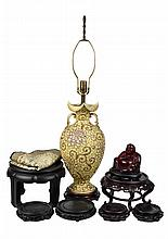A GROUP OF ASIAN DECORATIVE ARTICLES