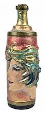 DAVID ADICKES, (American, born 1927), Bottle, Cold painted bronze, H 12¾ x diam 4½ inches.