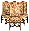 A SET OF SIX FRENCH LOUIS XIV STYLE DINING CHAIRS