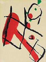 PIERRE TAL-COAT, (French, 1905-1985), Abstract, 1966, Lithograph, ed. 1500, H 10 x W 7½ inches.