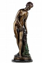 ANONYMOUS , Diana Bathing, Bronze, H 27 x W 10 x D 15 inches.