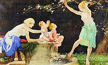 WILLIAM RUSSELL FLINT, (Scottish, 1880-1969), The Bloom of Youth, Lithograph, H 12 x W 19 inches.