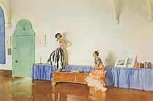 WILLIAM RUSSELL FLINT, (Scottish, 1880-1969), In My Studio, 1938, Lithograph, A/P, H 12 x W 18½ inches.