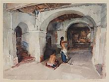 WILLIAM RUSSELL FLINT, (Scottish, 1880-1969), The Unseen Target, 1966, Lithograph, H 18 x W 24 inches.