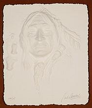 CARLO WAHLBECK, (American, born 1933), Native American, Cast paper, 46/175, H 13 x W 11 inches.