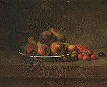 CONTINENTAL SCHOOL, (19th century), Still Life, Oil on canvas, H 14 x W 17 inches.