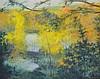HENRI GADBOIS, (American, Texas, born 1930), Pond by the River Ingram, 1978, Oil on canvas, H 23½ x W 28½ inches.