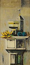 ANONYMOUS , (20th century), Still Life, Oil on canvas, H 27 x W 13½ inches.