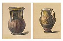 CONTINENTAL SCHOOL, (19th century), Classical Vessels, Etchings (two works), H 10 x W 8¼ inches.