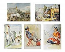 IGNACIO M. BETETA, (Mexican, 1898-1988), A Collection of Twenty-One Works on Paper by General Beteta, H 13½ x W 21 inches.
