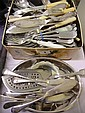 Large collection of plated cutlery and table ware
