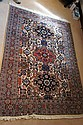 Ardebil hand-knotted carpet with geometric designs