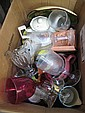 Box of china and glassware