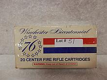 Winchester bicentennial  30-30 150 grain silver tip 20 rifle cartridges