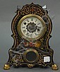 Victorian iron shelf clock, ht. 11 1/2