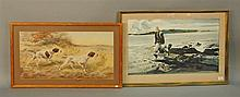 Two prints, Edmund Henry Osthaus (1858-1928)print marked in print lower left Edm H. Osthaus 1892, 15