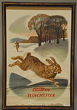 Vintage lithographic poster, Western Winchester, 1955 Olin Mathieson Chemical Corporation.