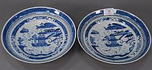 Pair of Nanking shallow bowls (minor flakes).Rdia. 9 3/4 in.RProvenance: Property from a Private Collection Sold for the Benefit...