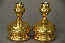 Pair of turned candlesticks, 17th century Spain.Rht. 4 in.RProvenance: Property from a Private Collection Sold for the Benefit o...