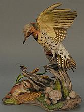 Boehm yellow shafted flicker. ht. 13 in.  Provenance: Property from a Private Collection Sold for the Benefit of the Virginia Hist...