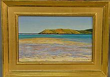 Tom Yost (1957) CARRIBEAN OCEAN FLATS oil on canvas signed lower left T. Yost 96 9