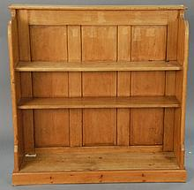 Pine book shelf, ht. 45 in.; lg. 46 in.; dp. 12 in.