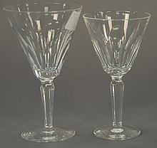 Set of nineteen Waterford crystal stems in two sizes (chip on base and tops), ht. 7 in. & 6 1/2 in.