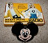 MICKEY MOUSE BELT BUCKLE RADIO/PENDANT MEMORABILIA