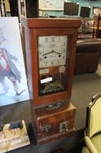 Vintage National Time Recorder Co. Punch Clock