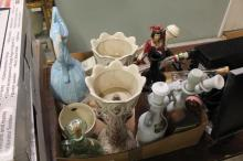 Box Lot of Decanters
