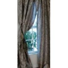 Manor Luxe Rod Lined Curtain    Panel-Pewter/Blue Retail Price 39.99