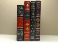 Franklin Library, Four Volumes:  THE AENEID  OF VIRGIL1975; STORIES, Guy deMaupassant,  Illustrated 1977; MOON LAKE AND OTHER  STORIES, Eudora Welty, Illustrated 1980; MONT  SAINT MICHEL AND CHARTRES, Henry Adams,